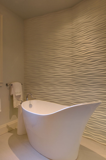 Master bath wave wall detail contemporary bathroom for Detail in contemporary bathroom design