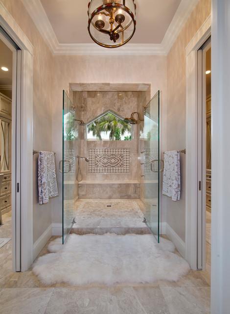 Master bath beach-style-bathroom