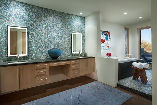 Carefree Contemporary Contemporary Bathroom Phoenix By Janet Brooks Design