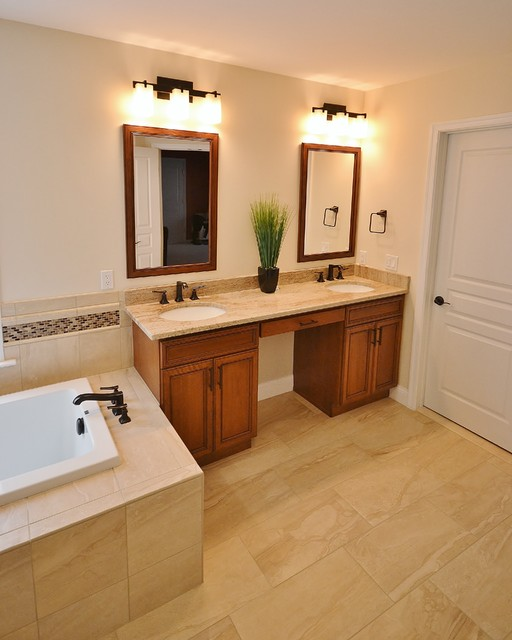 Master Bath With Soaking Tub Traditional Bathroom Philadelphia By Chester County Kitchen
