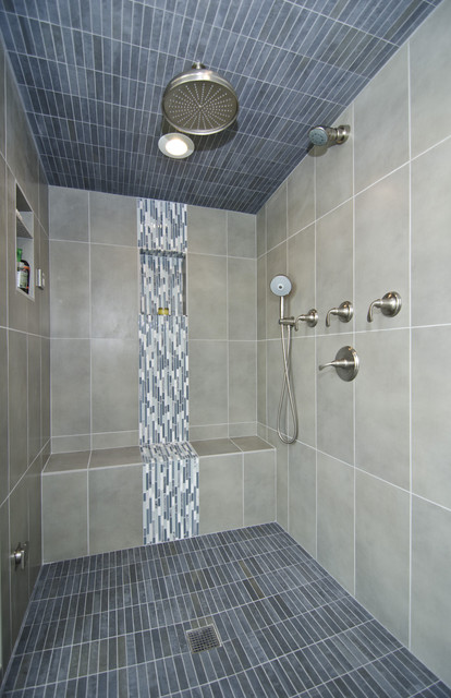 Master Bath With Steam Shower Contemporary Bathroom