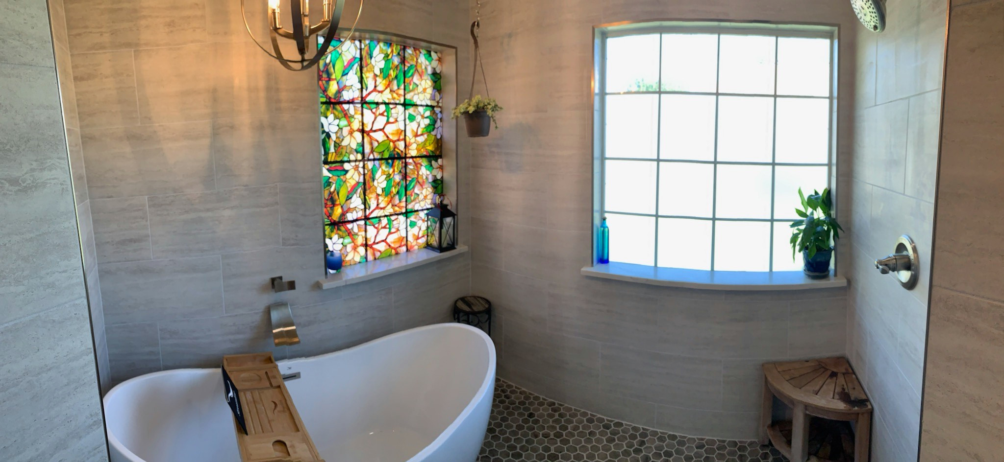Master Bath with Stunning Feature Window