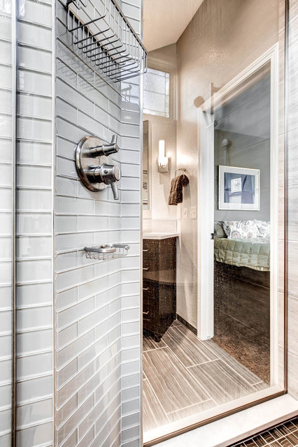 Master Bath with Tall Ceilings and an Open Feel - Contemporary - Bathroom - Denver - by ...