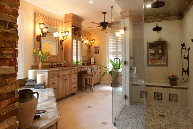 master bath with universal design features  traditional, Home designs