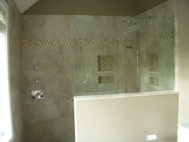 Master Bath With Walk In Shower Traditional Bathroom Boston