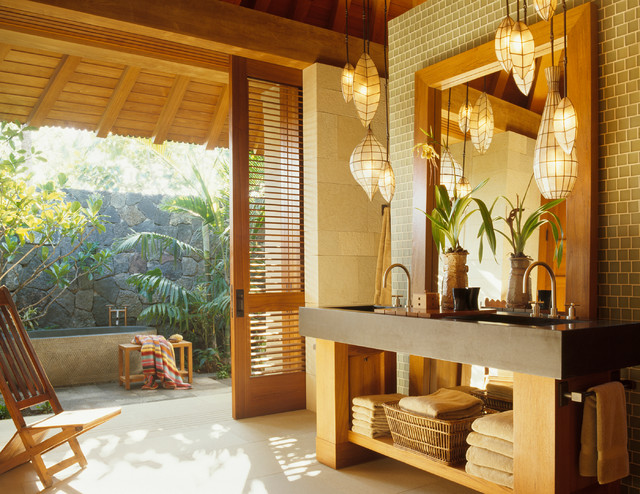 Tropical Bathroom Vanity Lights : Master Bath