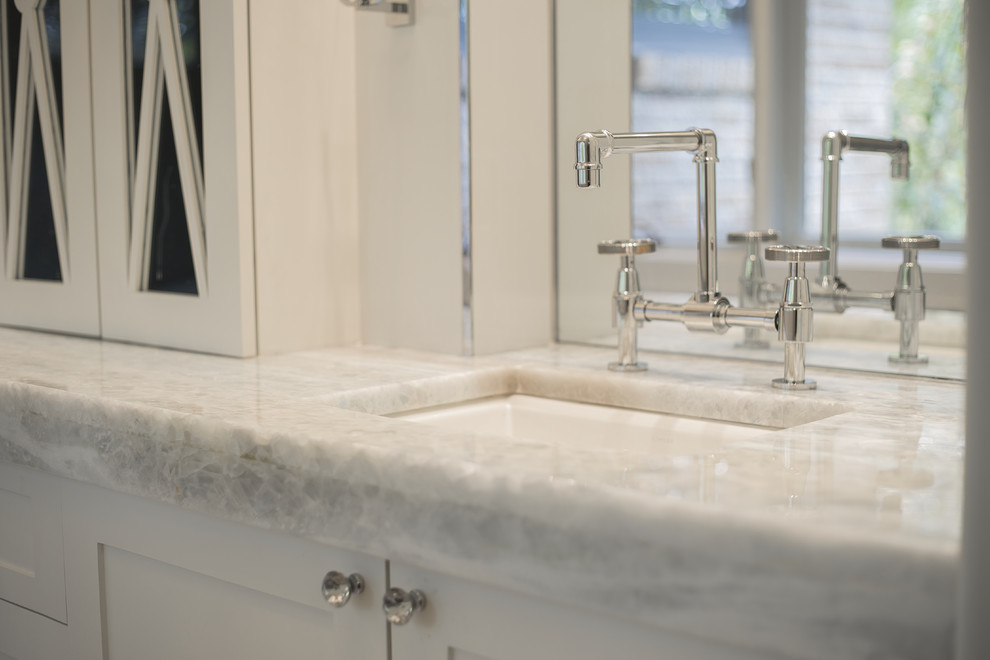 Example of a transitional bathroom design in Houston