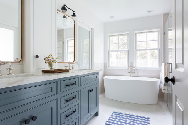 Master Bathroom Mi Traditional and Modern Touches on spanish revival bungalow, spanish style bungalow, california spanish bungalow,
