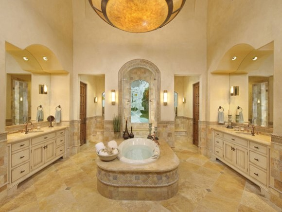 24 Mediterranean Bathroom Ideas: Master Bathroom