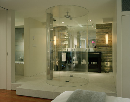 it looks like aliens could beam you up at any moment - Luxury Showers