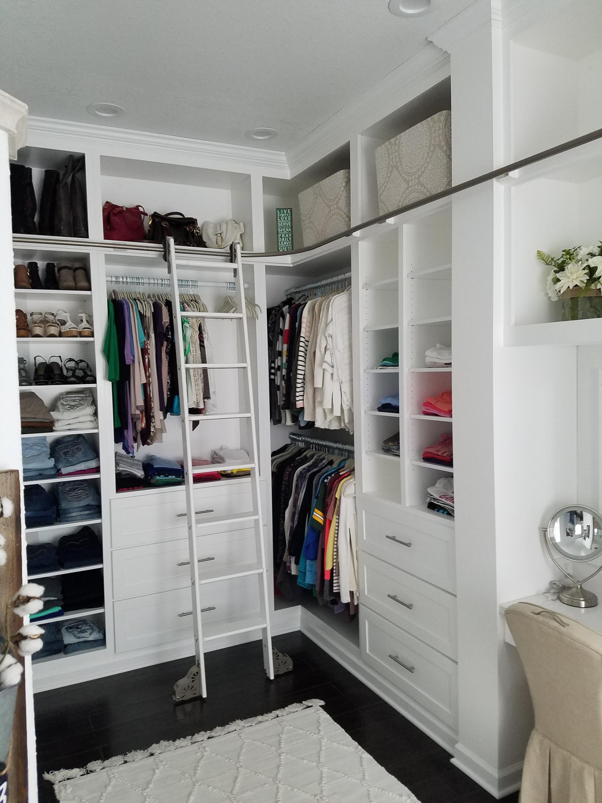 Master bathroom / closet
