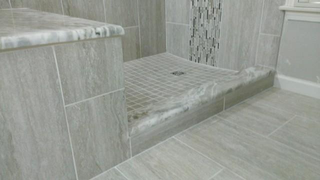 MASTER BATHROOM Complete remodel 12 x 24 Vertical Tile