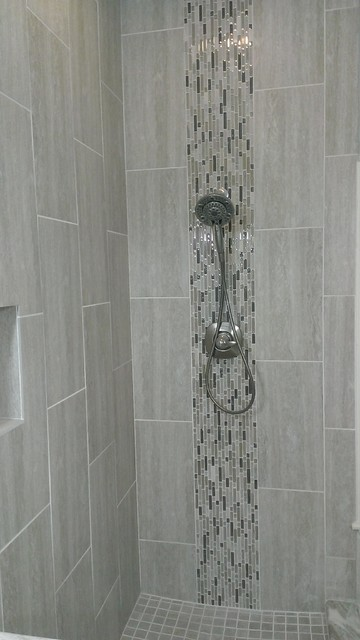 Gray Tile Bathroom Floor