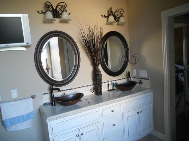 Master bathroom concrete countertops traditional-bathroom