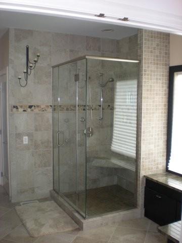Master Bathroom - Custom Shower contemporary-bathroom