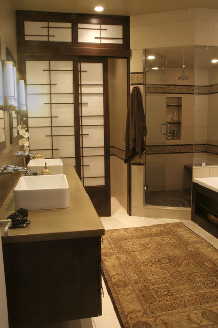 Master bathroom asian bathroom denver by design for Japanese inspired bathroom design