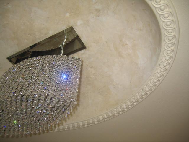 Master bathroom dome ceiling italian venetian plaster for Venetian plaster bathroom ideas