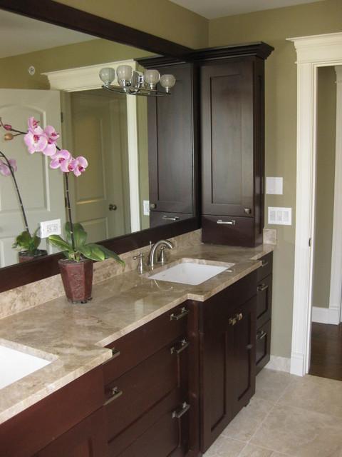 master bathroom double vanity  traditional  bathroom  chicago,