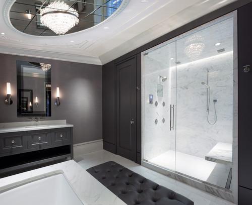 Glass Ceiling Design in a Bathroom