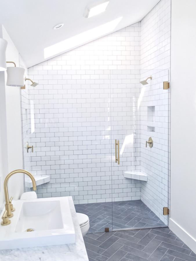 Master Bathroom-Exeter Square - Farmhouse - Bathroom ...