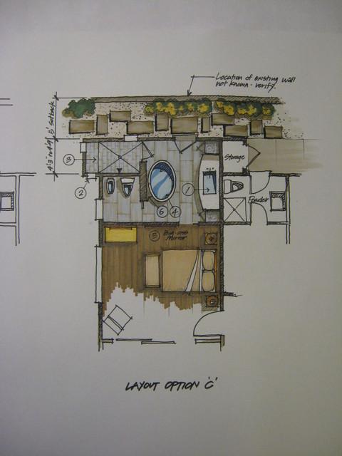Swanson Master Bathroom Floor Plan Contemporary