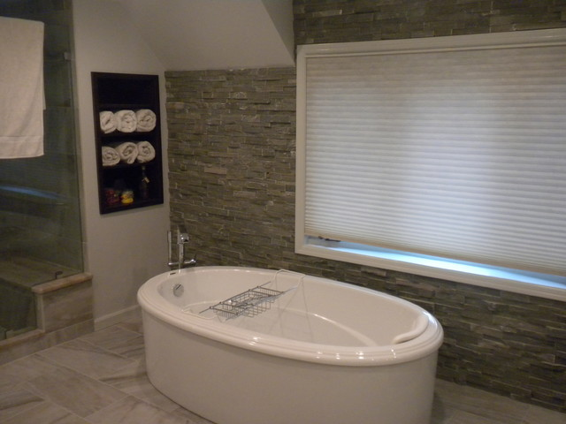 Master bathroom freestanding tub Freestanding bathtub bathroom design