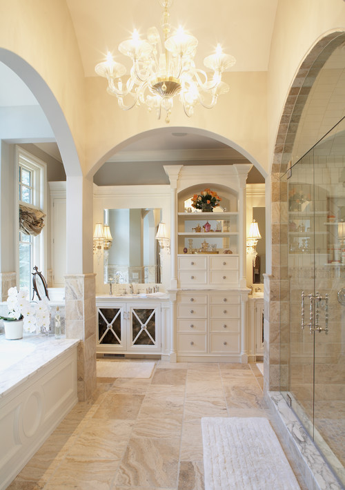 Antique style designing a bathroom for Houzz bathrooms traditional