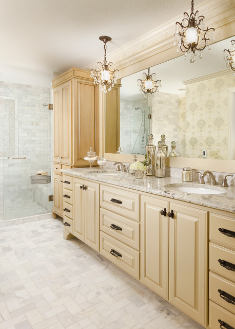 Inspiration for a timeless bathroom remodel in Minneapolis with an undermount sink