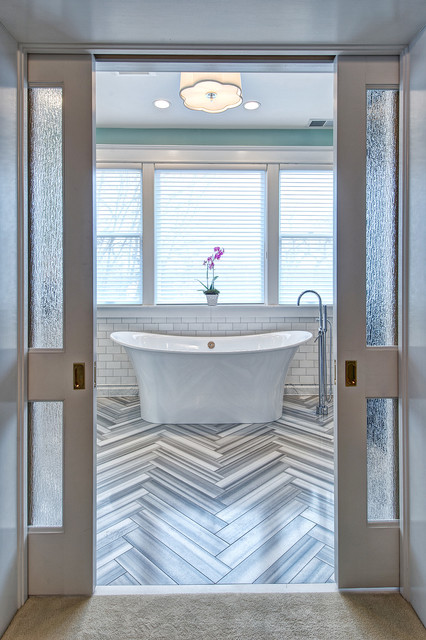 Art Deco Style Meets Modern Sensibility In A Glamorous Master Bath