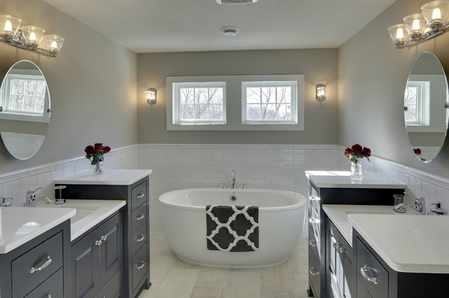 Master bathroom kintyre model 2015 spring parade of for Model home bathroom photos