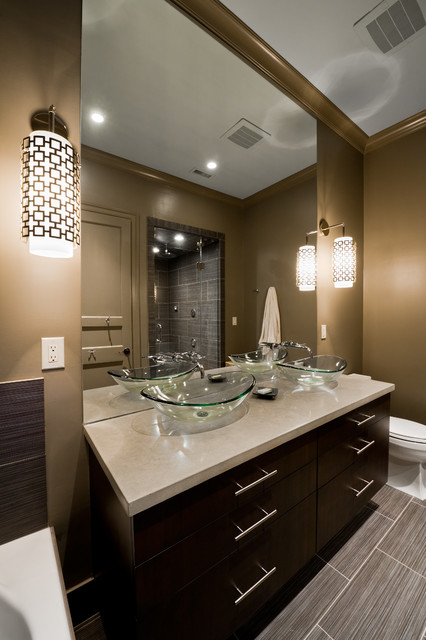 Master Bathroom: Modern by Design - Contemporary - Bathroom - Charlotte - by Andrew Roby General Contractor