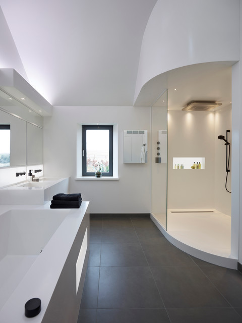 Master bathroom new build cotswolds contemporary for Bathroom design oxfordshire