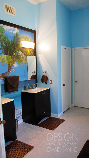 Master Bathroom Oasis Tropical Bathroom Houston By Design With Your Dime In Mind