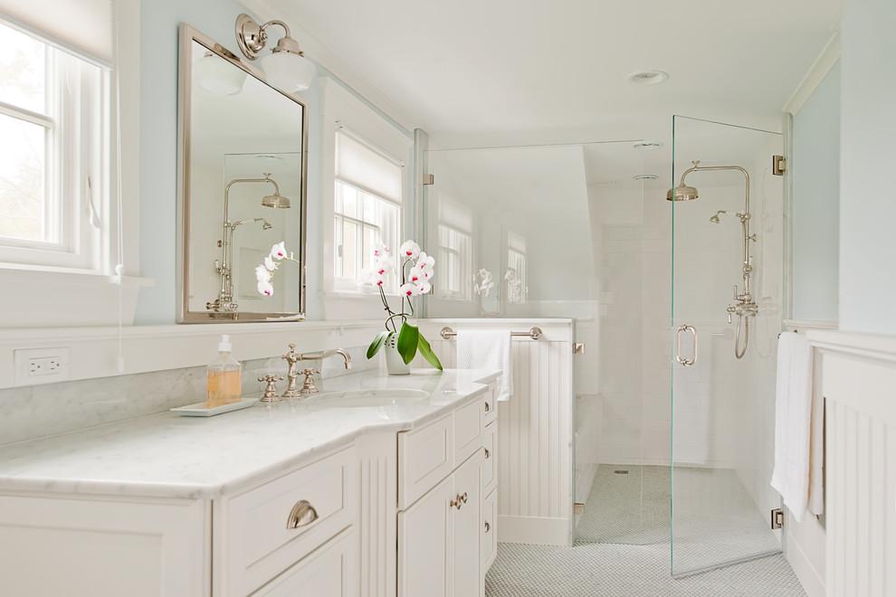 Inspiration for a contemporary bathroom remodel in Boston