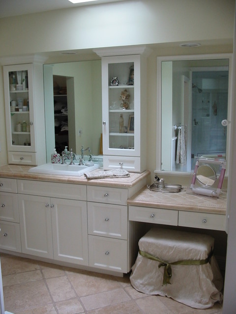 Master bathroom remodel dressing area tarzana ca for Bathroom designs with dressing area