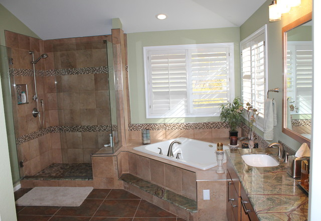 Master bathroom remodel highlands ranch contemporary for Modern ranch bathroom