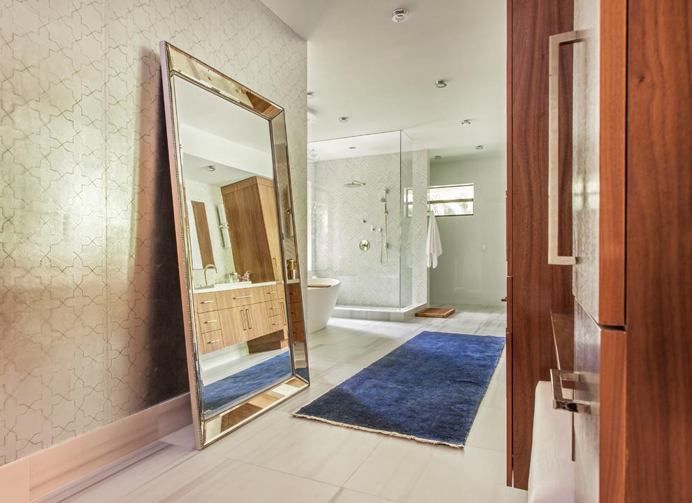 Master Bathroom Remodel in Miami - Contemporary - Bathroom ...
