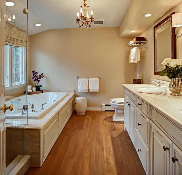 Master bathroom remodel update traditional bathroom for Updated master bathrooms