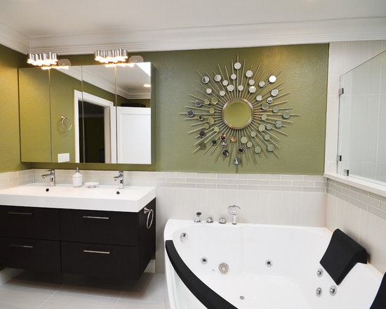 Lowes Wall Panels Bathroom Design Photos with a Hot Tub, Recycled ...