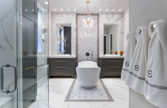 Master Bathroom Renovation Gold Gray Amp Cobalt Spring