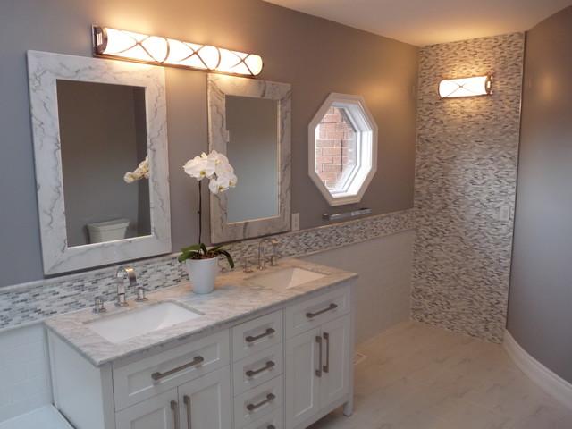 Master bathroom renovation traditional bathroom toronto by kenneth homes design build inc - Bathroom design toronto ...