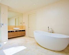 Master Bathroom Retreat with Fine Custom Cabinets and Soaking Tub modern-bathroom
