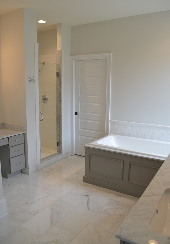 Master Bathroom Shower & Soaking Tub - Transitional ...