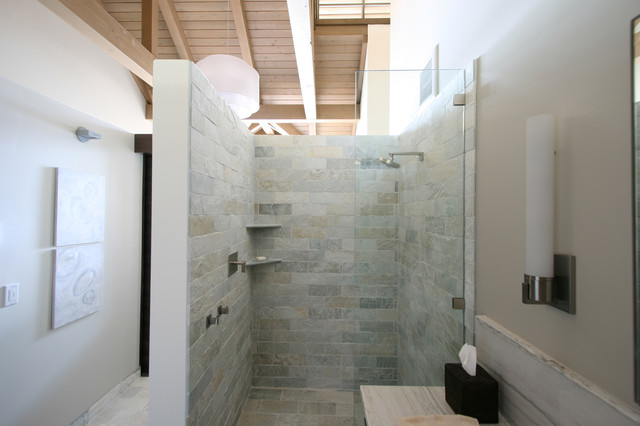 "Contemporary Bathroom Showers master bathroom shower ""box"" - contemporary - bathroom - seattle"