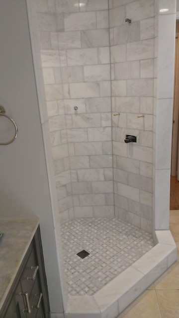 Master Bathroom Shower Carrara Marble 6 Quot X 12