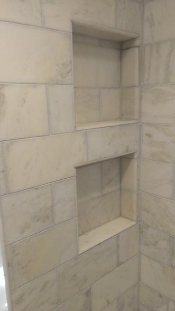 Master Bathroom Shower Carrara Marble 6 Quot X 12