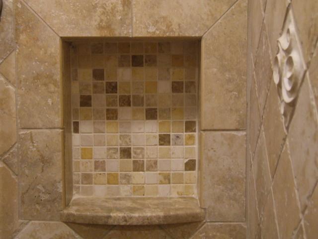 Master bathroom shower niche for shampoos etc traditional bathroom new york by gem - Image of bathroom ...