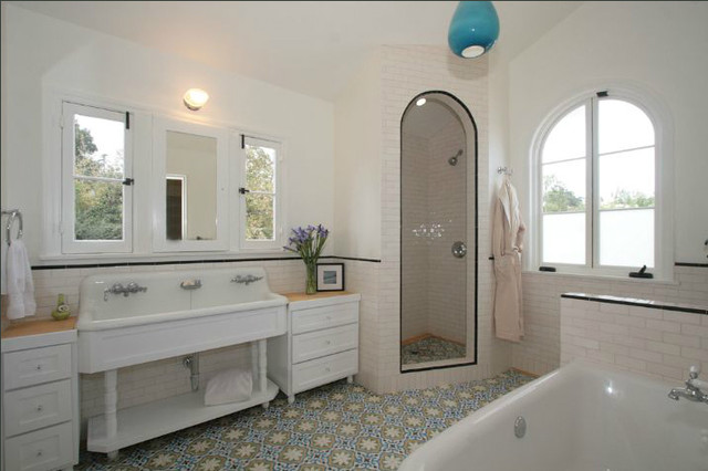 Master Bathroom Shower Subway Handmade Moroccan Tile