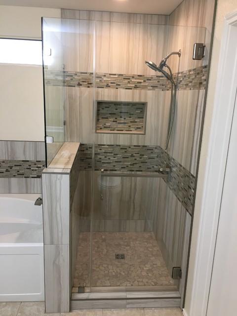 Master Bathroom Shower Tub Vanity, Custom Bathroom Showers