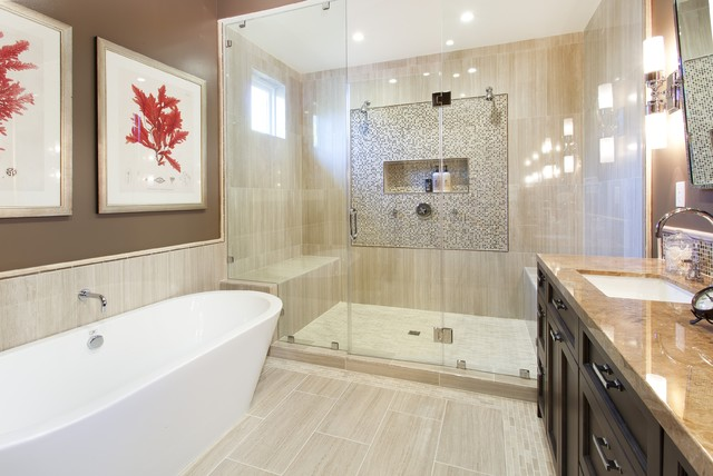 Coral Tile Bathroom Ideas Houzz